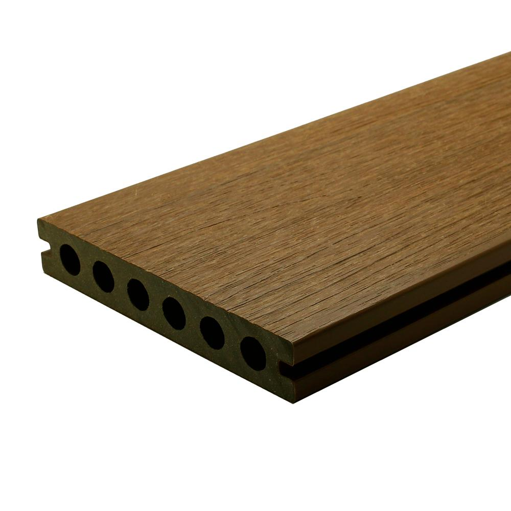 Newtechwood Ultrashield Naturale Voyager Series 1 In X 6 In X 16 Ft Hawaiian Charcoal Hollow Composite Decking Board 10 Pack Uh02 16 N Ch 10
