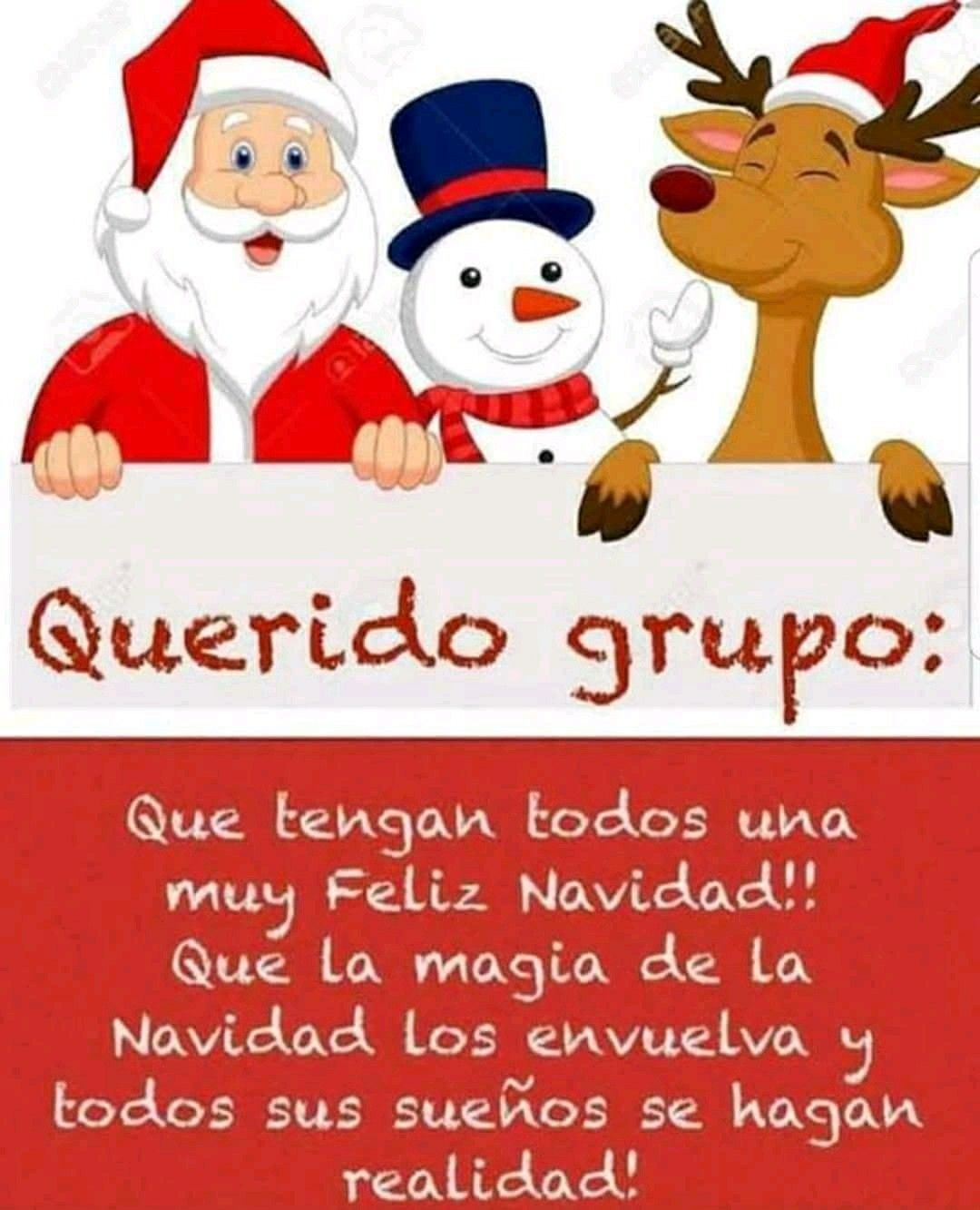 Querido Grupo Tarjeta De Navidad Mensajes Feliz