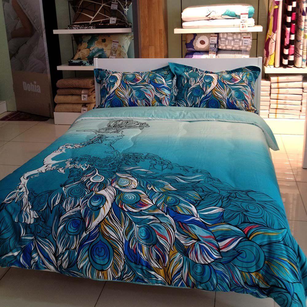 Peacock Blue Bedding Set Blue Bedding Sets Peacock Bedroom Blue Bedding