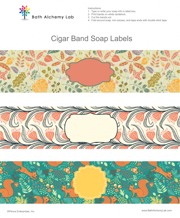 Free Printable Soap Wraps Soap Labels Handmade Soap