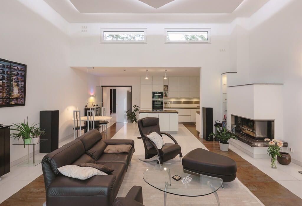 Wohnzimmer Ideen mit offener Küche und Essbereich - Inneneinrichtung ...