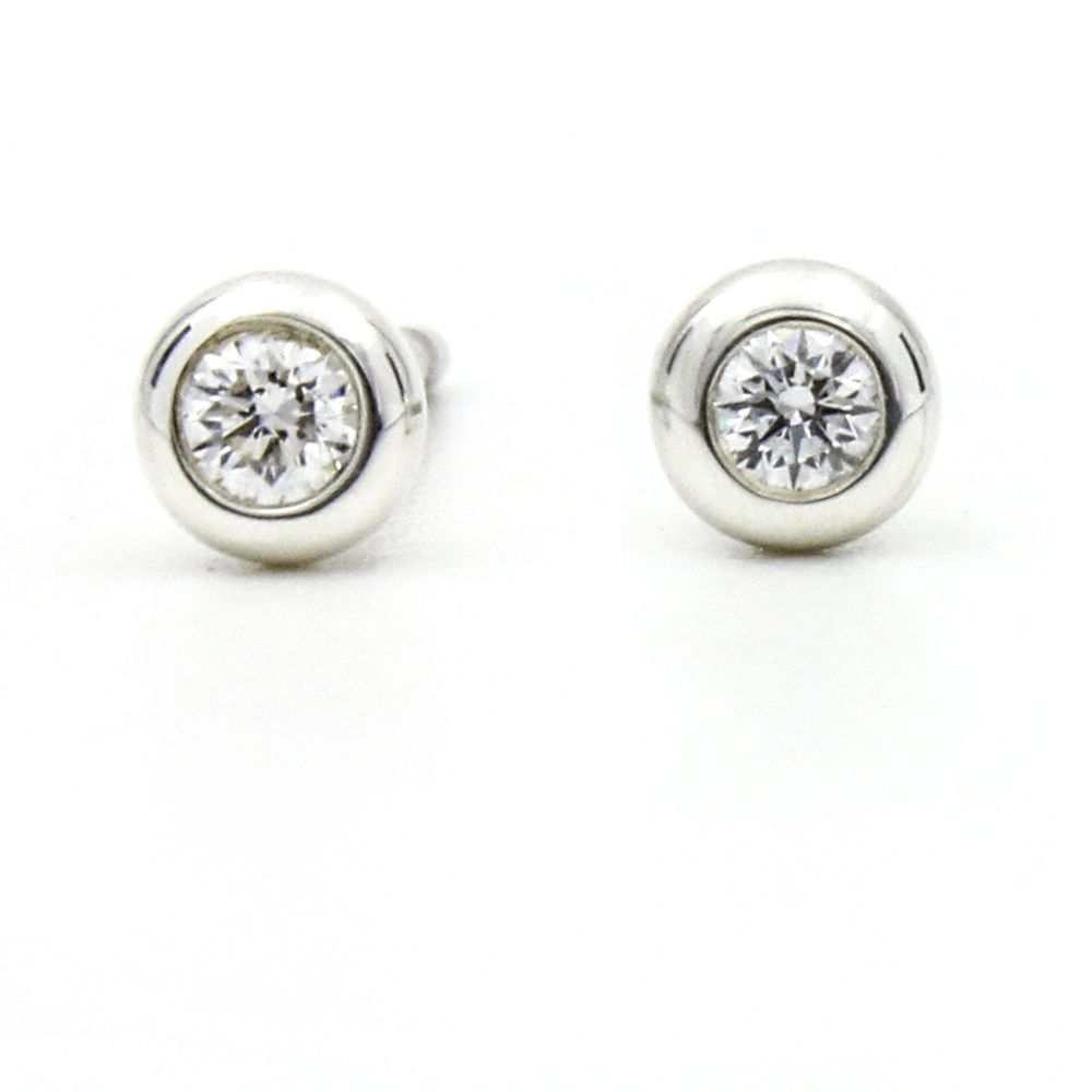 b972879d7 Tiffany & Co. Elsa Peretti Diamonds by the Yard Stud Earrings in Sterling  Silver #TiffanyCo #Stud