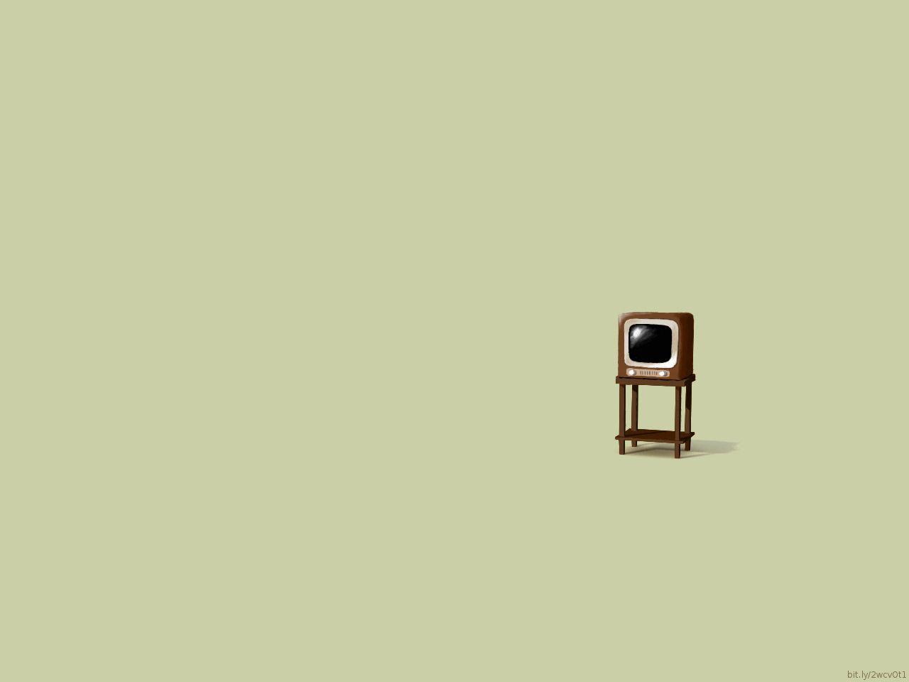 Retro TV. (With images)   Minimalist desktop wallpaper ...