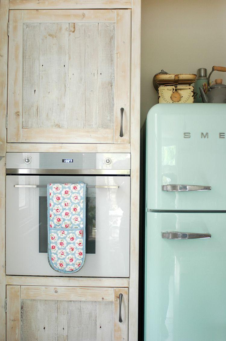 Fridge In Kitchen kitchen renovation tour | smeg fridge, cupboard and kitchens