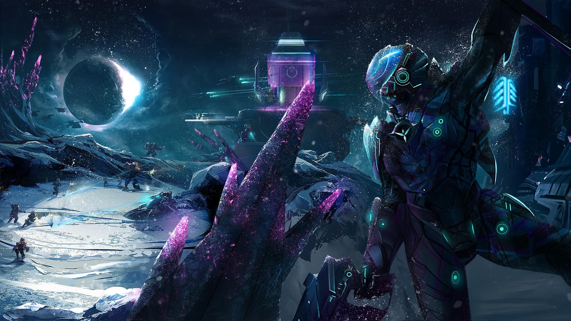 It S Going To Be A Long Night Planetside 2 Fanart Gaming Wallpapers Futuristic Concept Art 4k Gaming Wallpaper Epic ultra hd gaming wallpaper 4k