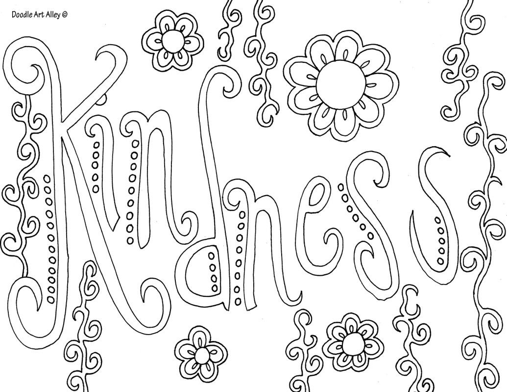 Coloring pages with words - Word Coloring Pages Need To Figure If Full Size Printing Is Possible
