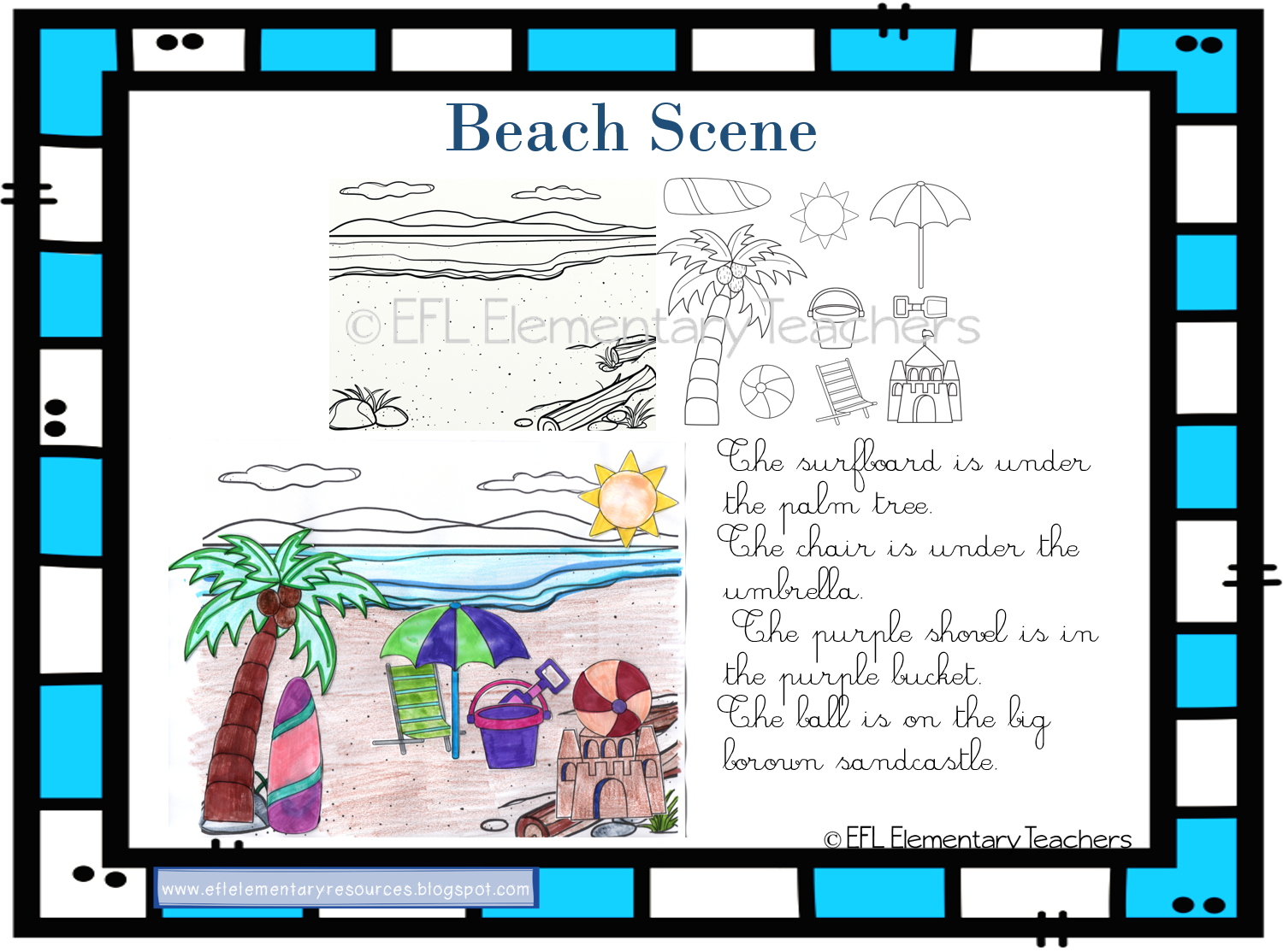 Beach Unit For Elementary Esl Learners