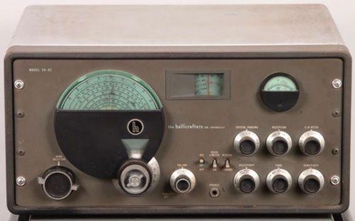 Vintage 1940s Hallicrafters Sx 42 Radio Receiver Tube Shortwave Ham Sx42 Sx 42 Radio Antique Radio Shortwave Radio