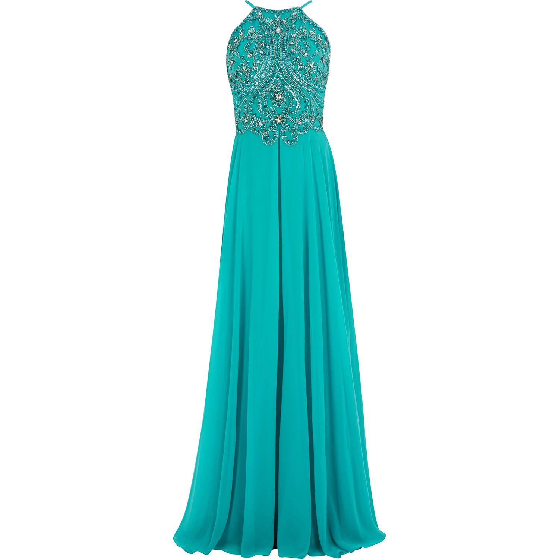 Forever Unique Jade Green Diamante Bead Maxi Dress Tk Ma
