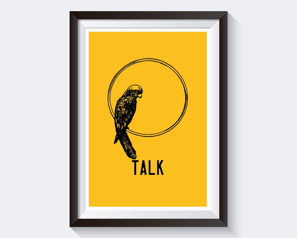 Wall Art Parrot Digital Print Talk Poster Art Parrot Wall Art Print ...