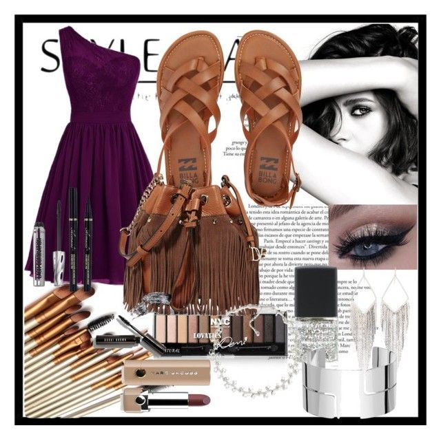 """""""Dinner Party"""" by sakura-grizzy ❤ liked on Polyvore featuring Chanel, Billabong, Diane Von Furstenberg, Bobbi Brown Cosmetics, Bare Escentuals, SHADE Collection, Jules Smith, Carolee, Dinh Van and Marc Jacobs"""