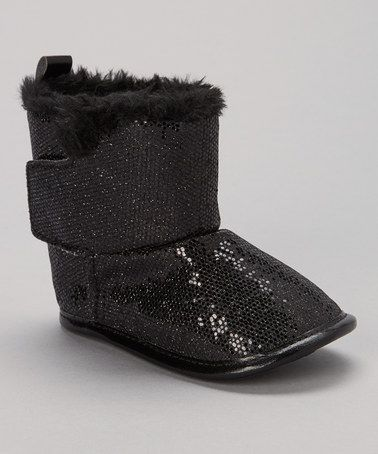 Take a look at this Black Sequin Boot by Adorababy on #zulily today!