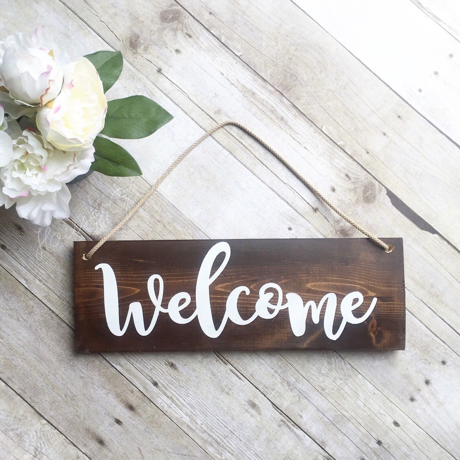 Welcome Sign For Front Door - Wreath Sign - Outdoor Sign - Wood Sign ...