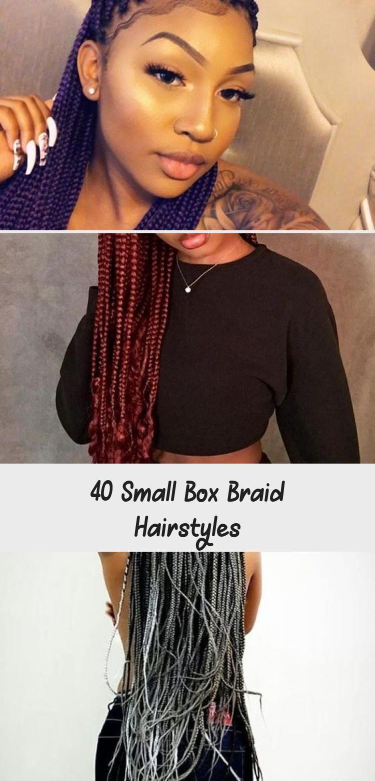 40 Small Box Braid Hairstyles Box Braids Hairstyles Small Box