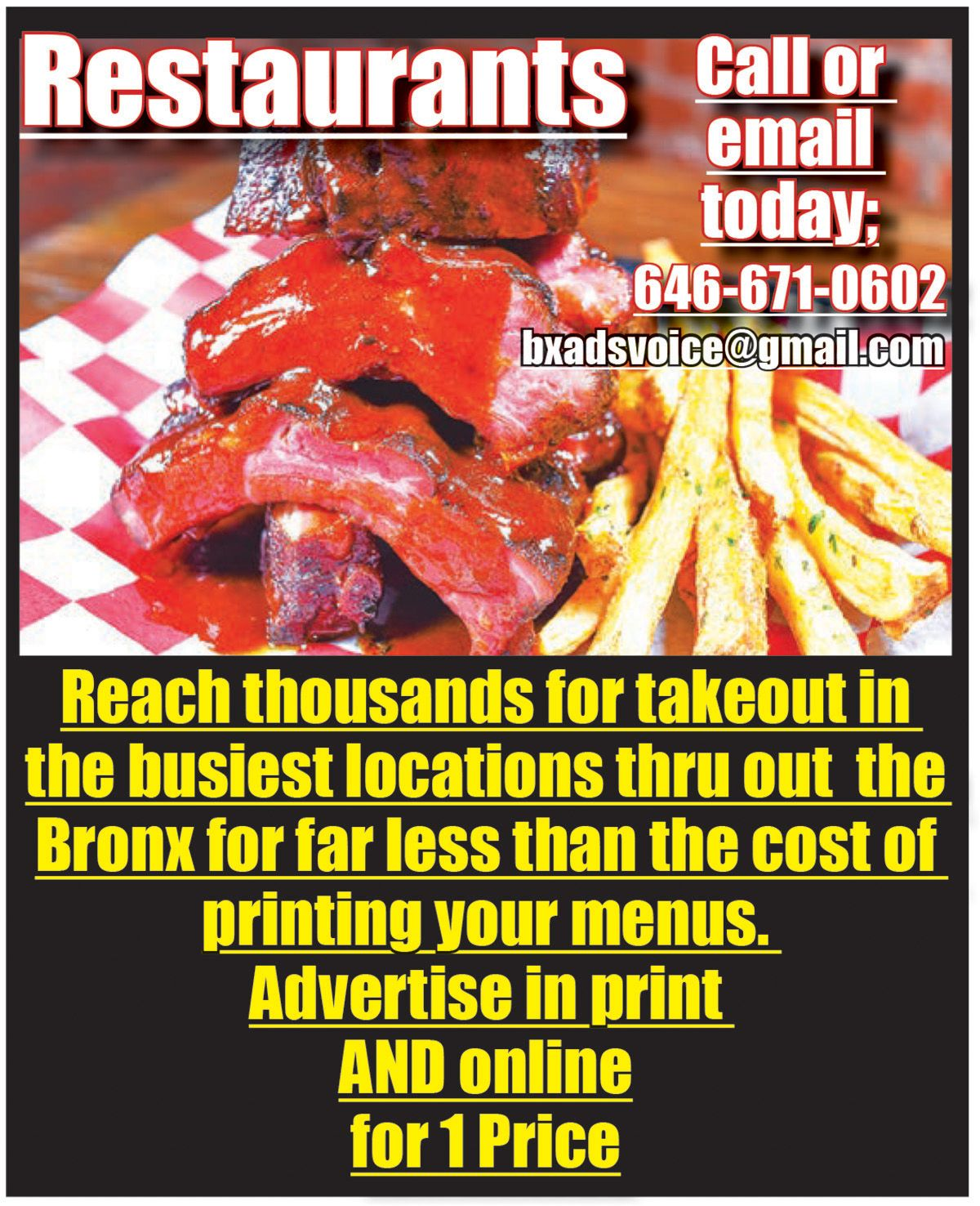 Advertise For Free Online In Bronx Bronx Voice Advertising Foodie Food