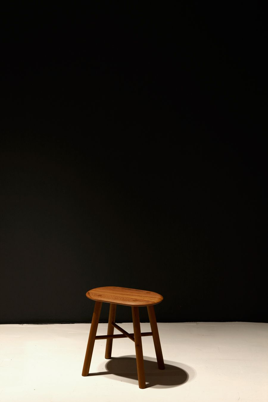 Biscuit Stool Black Walnut designed by Outofstock for Environment