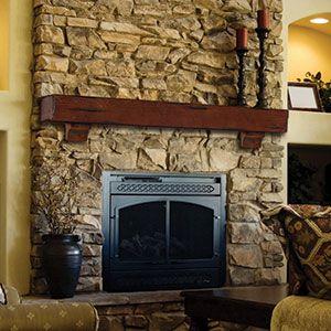 Breckenridge - Wood Mantel Shelves - Fireplace Mantel Shelf ...