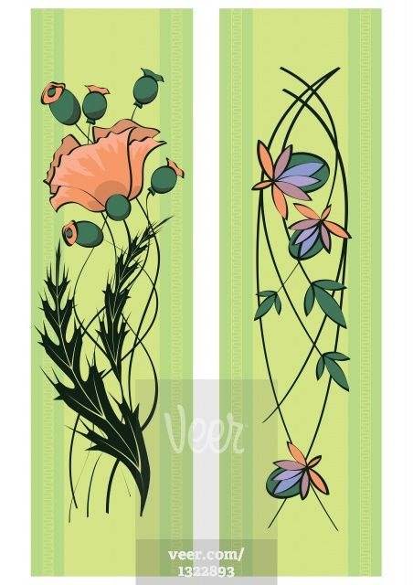 Illustration-of-art-nouveau-floral-1322893.jpg (452×640)