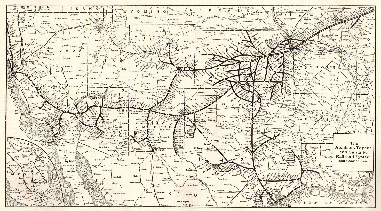 1914 Antique ATCHISON TOPEKA Santa Fe RAILROAD Map Vintage ... on boca raton on us map, helena on us map, greensboro on us map, madison on us map, pikes peak on us map, knoxville on us map, st. louis on us map, savannah on us map, manchester on us map, natchitoches on us map, pierre on us map, new orleans on us map, los angeles on us map, grand rapids on us map, new york on us map, boise on us map, scottsdale on us map, denver on us map, boulder on us map, san antonio on us map,