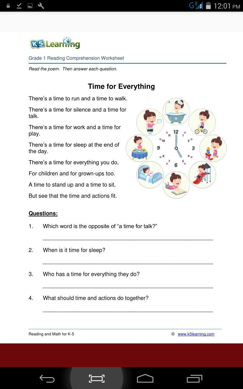 Pin By Destiny Okoye On Time Reading Comprehension Worksheets Grade 1 Reading Reading Comprehension [ 1280 x 800 Pixel ]