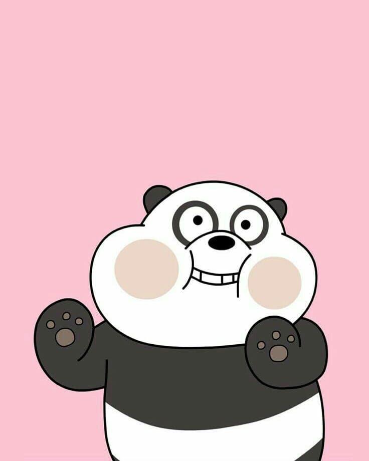 We Bare Bear Panda Panda Webarebears Pandalover Cutepanda Cartoon Cartoonnetwork Wallpaper Animal วอลเปเปอร ขำๆ แพนดา หม ข วโลก