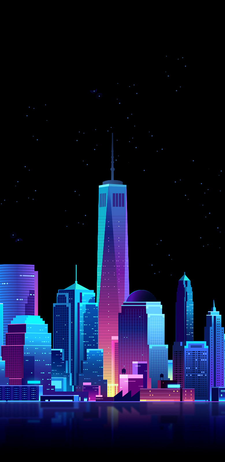 Colorful city Amoled | Wallpaper iphone neon, Art ...