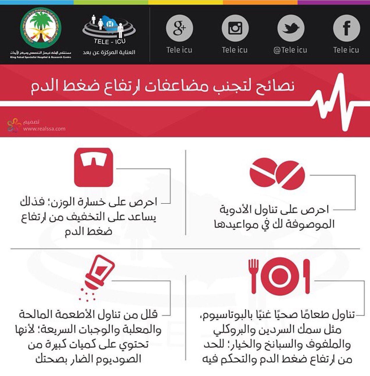 نصائح لتجنب مضاعفات ارتفاع ضغط الدم Instagram Medical Technology Health