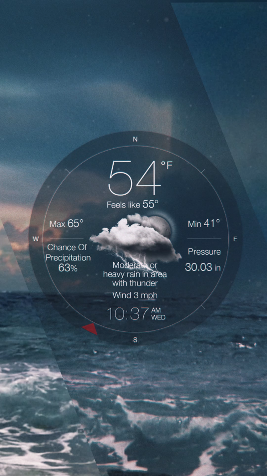 It's beautiful. It's accurate. It's Weather Live for