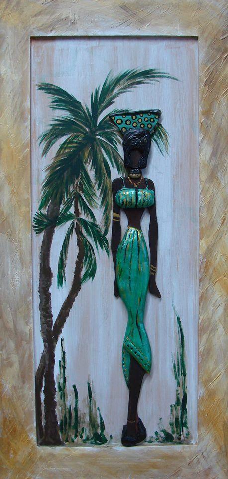 Handmade African Art Paintings Clay Wall Art Mural Art