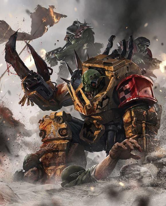 Mega Armoured Nobz | Hurray for orcs | Warhammer art, Art