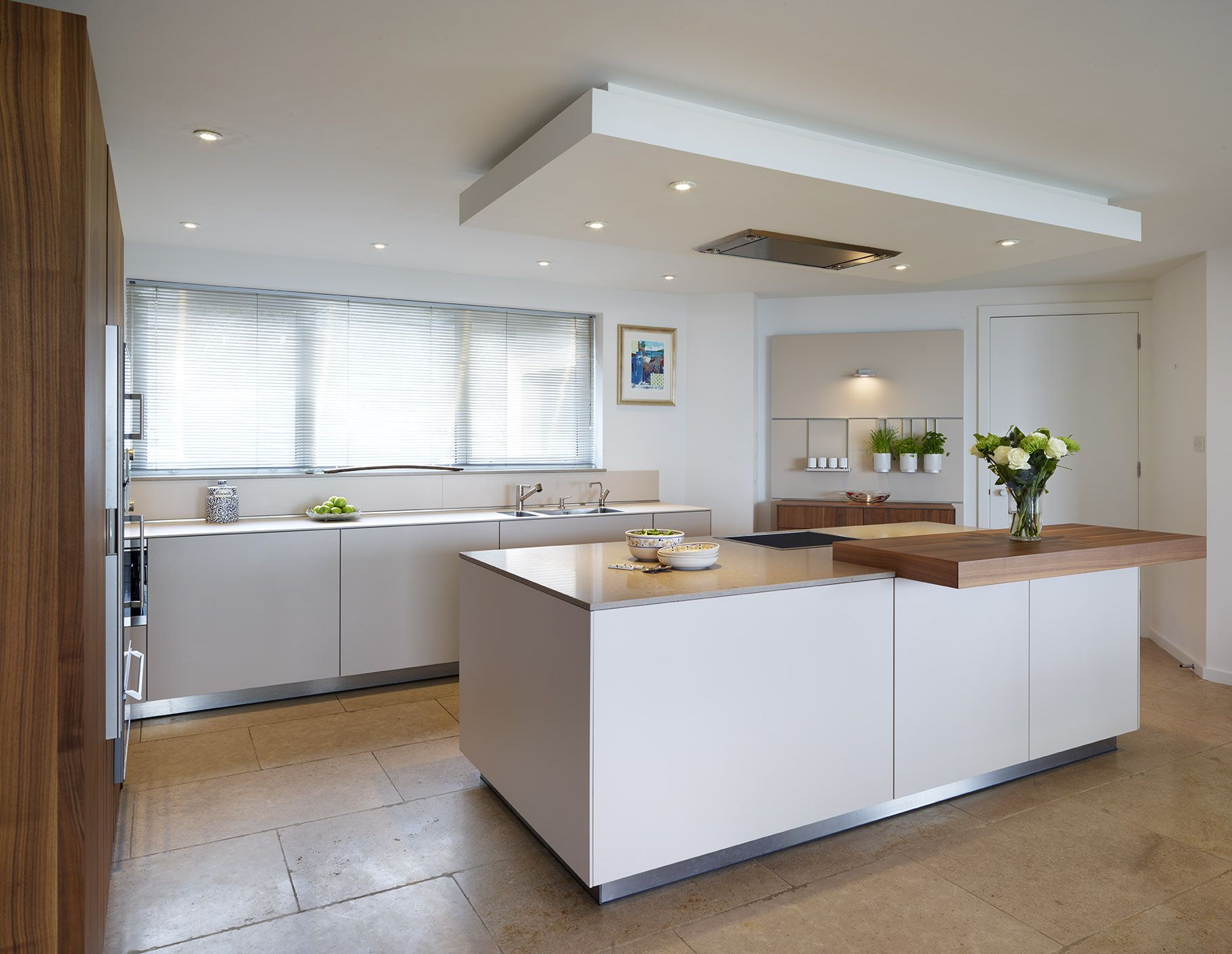 Kitchen Island Extractor the drop ceiling creates a flush fit extractor above the central
