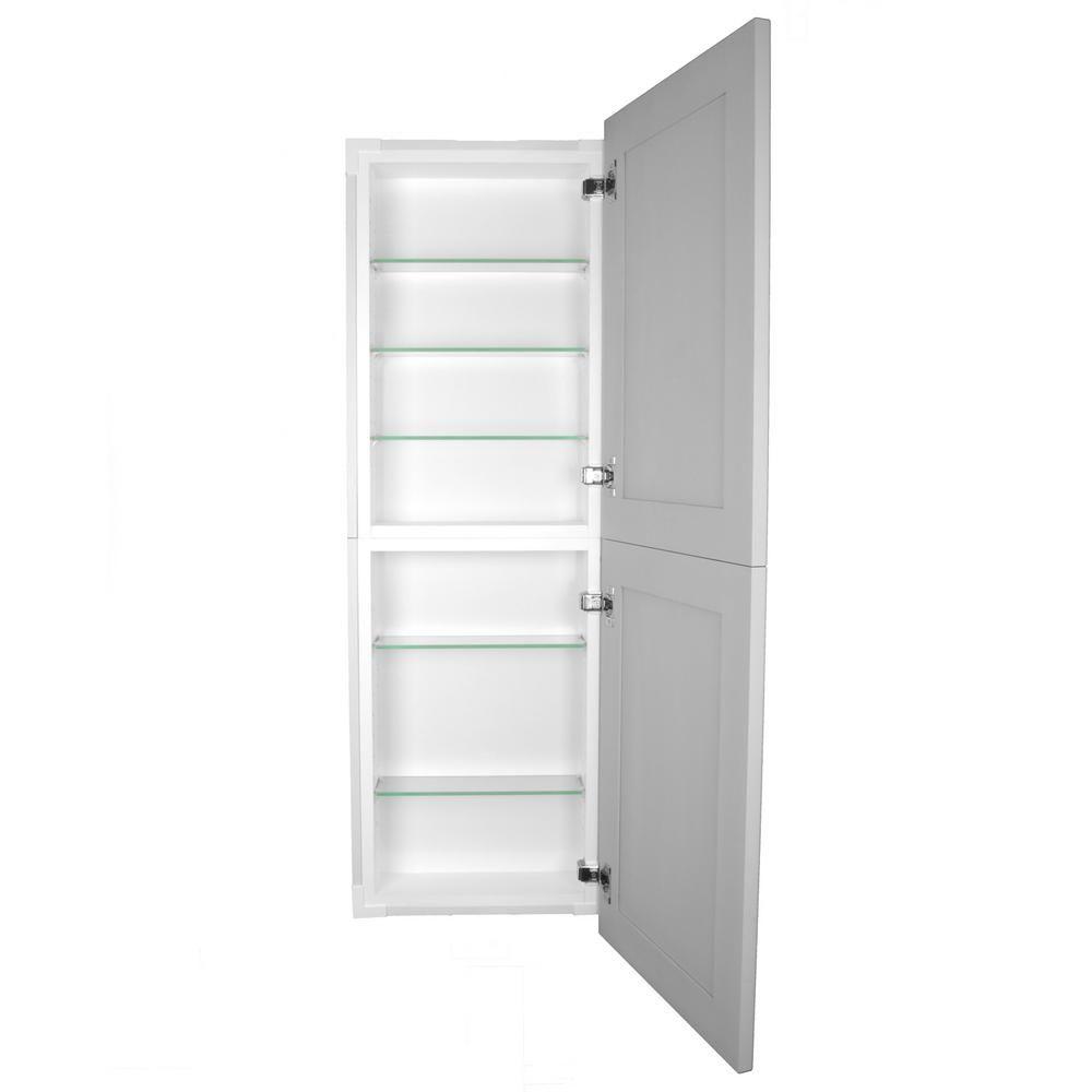Silverton 14 In X 44 In X 4 In Frameless Recessed Medicine Cabinet Pantry Fr 244 Primed Door The Ho Recessed Medicine Cabinet Cabinet Tall Cabinet Storage