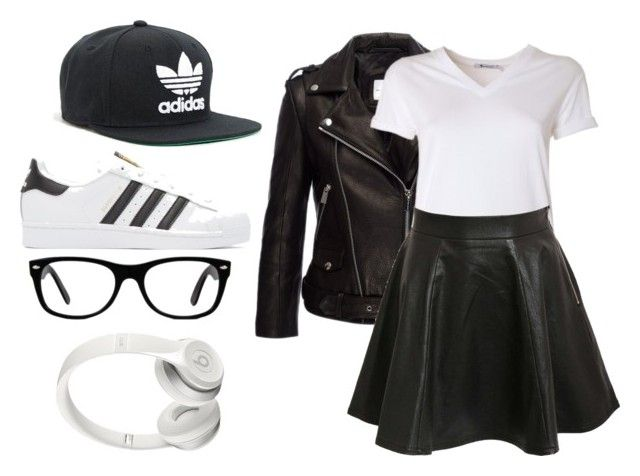 """Untitled #15"" by the-random-girlig on Polyvore featuring adidas, Anine Bing, T By Alexander Wang, Pilot, adidas Originals, Beats by Dr. Dre and Ray-Ban"