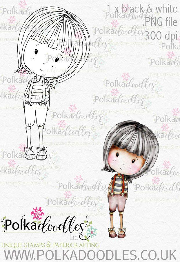 Winnie Wonderland Tweedledee - Printable Digital stamp download ...