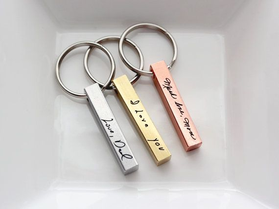 Handwriting Keychain - Custom Engraved Keychain, Personalized Gift, Gift for Men Custom Keychain Engraved Keychain Handwriting Engraved Gift