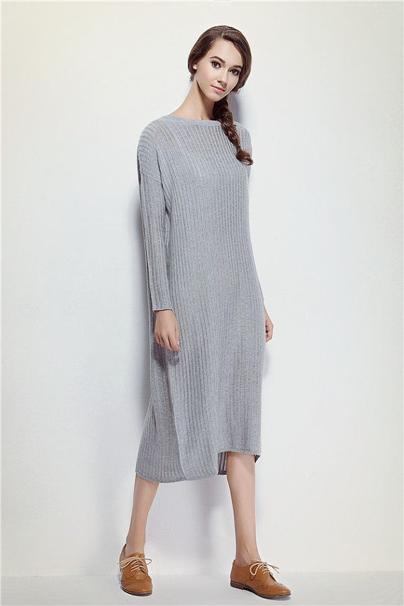 14e94014b13a Grey Asymmetric Kaftan / Maxi Dress / Loose Extra Long Sleeve Kaftan / Long  Summer Dress / Loose casual fitting