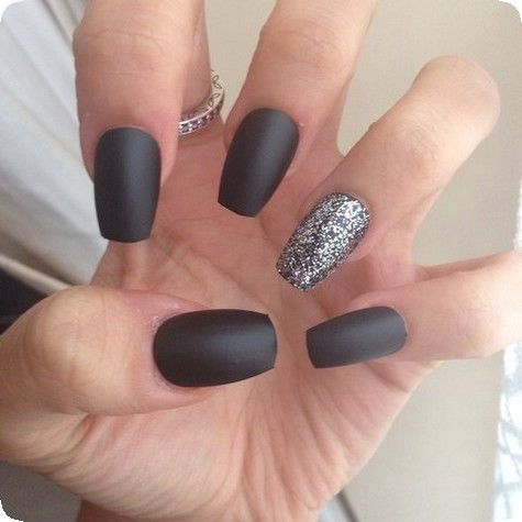 20 best matte black coffin nails design ideas to try this