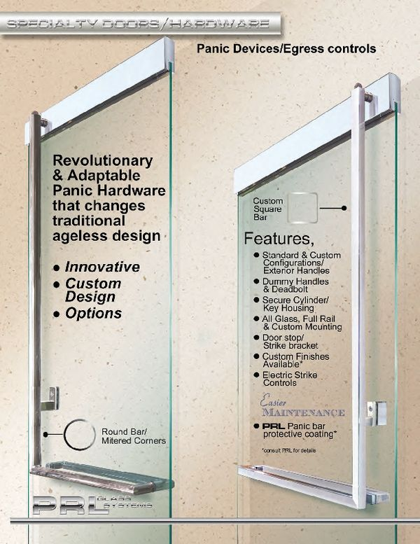 PRL Glass Systems Inc Toll Free PRL Panic door device and hardware offer Architects a solution for creating Architectural beauty as well as Building Safety ...  sc 1 st  Pinterest & PRL Panic device offers a solution for creating Architectural ...