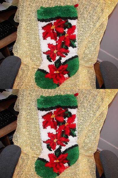 Stockings and Hangers 170091 Beautiful Large Hooked Rug Yarn