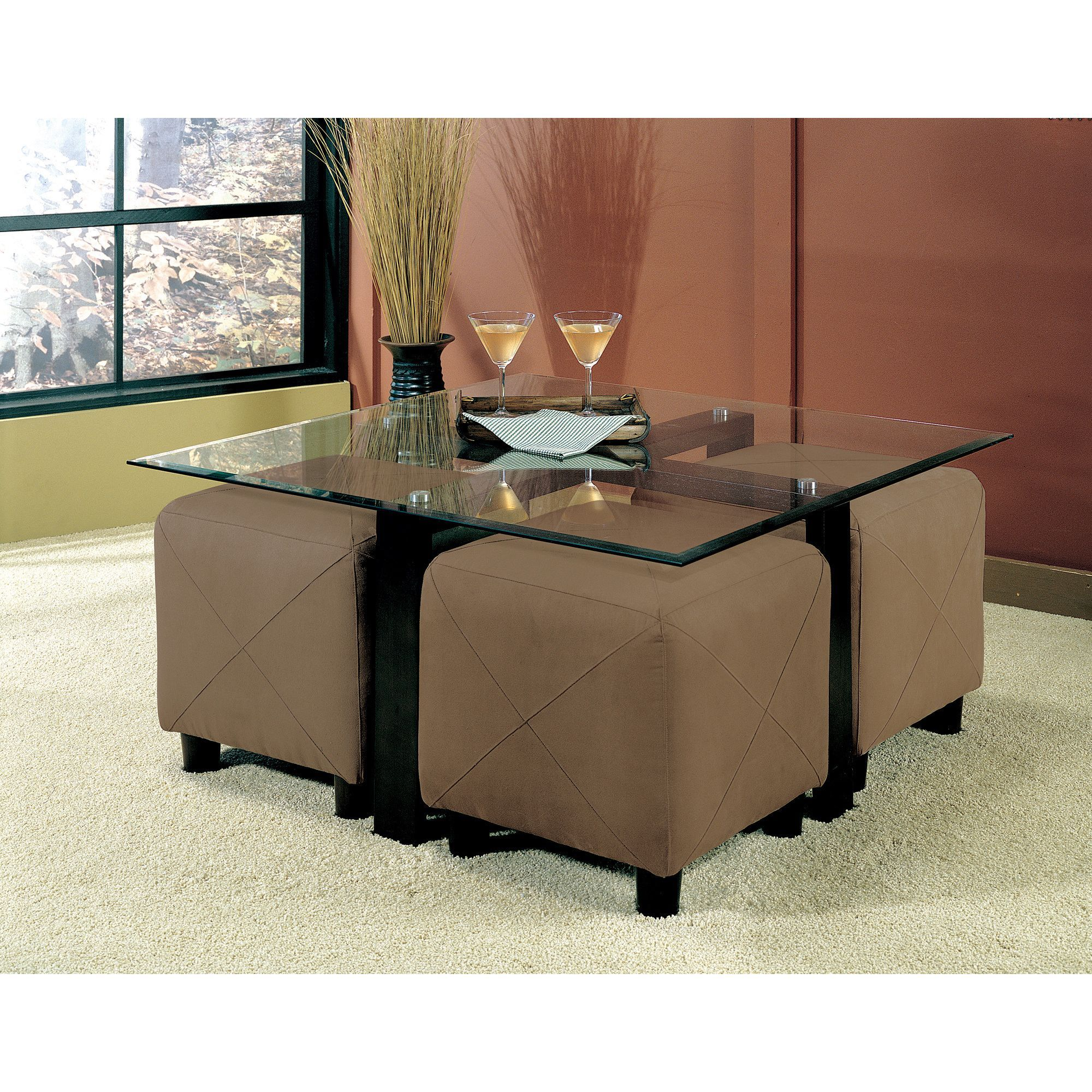 Overstock Com Online Shopping Bedding Furniture Electronics Jewelry Clothing More Coffee Table With Seating Coffee Table Square Square Glass Coffee Table [ 2000 x 2000 Pixel ]