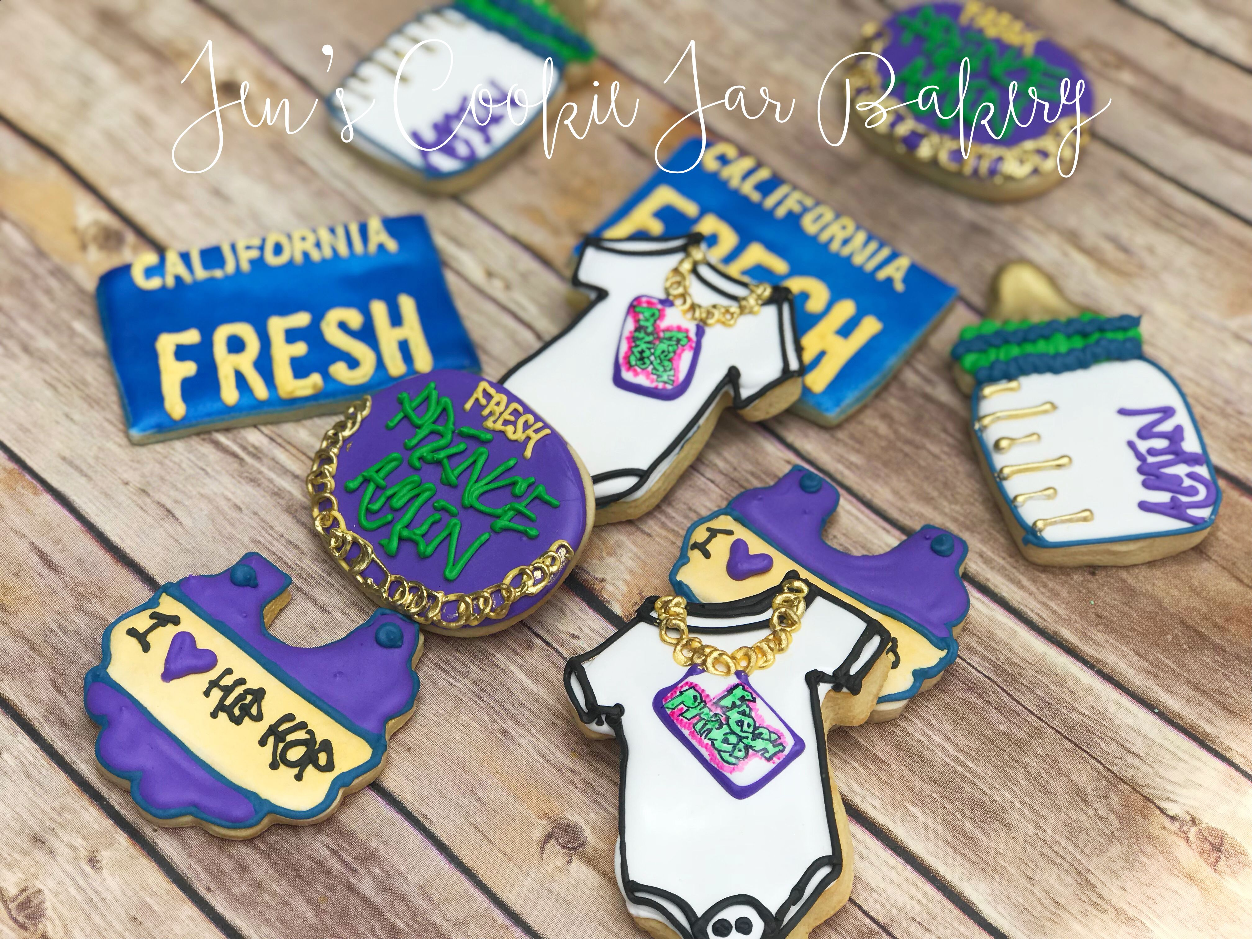 Fresh Prince Of Bel Air Baby Shower Cookies Prince Baby Shower