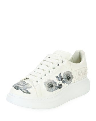 129ca218f50 Floral-Embroidered+Leather+Low-Top+Sneaker