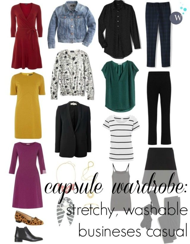 4a46d46cae0 a capsule wardrobe - business casual with stretch and all machine washable