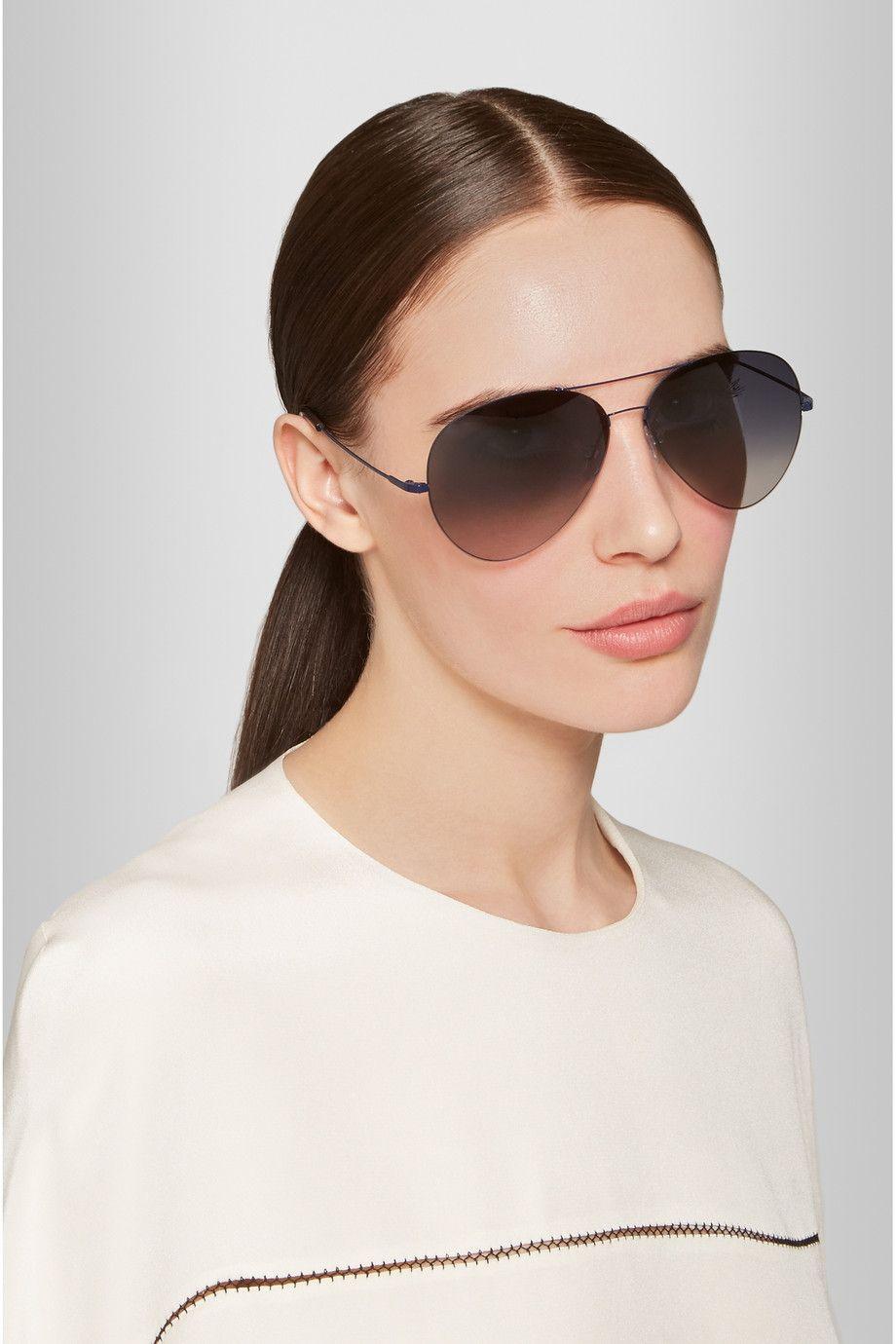 Victoria Beckham   Aviator metal sunglasses   NET-A-PORTER.COM ... 022803a6c93b