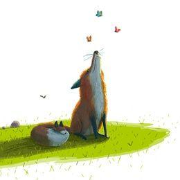 Sebastien Millon's Foxes Art Print