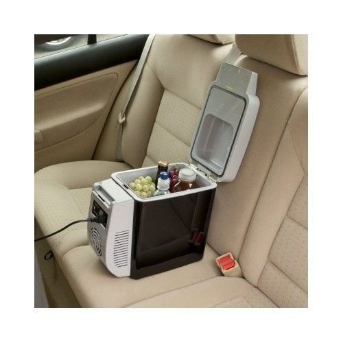 Portable Travel Cooler Cup Holder Car Armrest Van Fridge Car Camping Boat Wagan