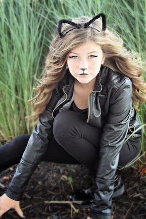 Show Me Cute | Black cat halloween costume, Cute halloween ...