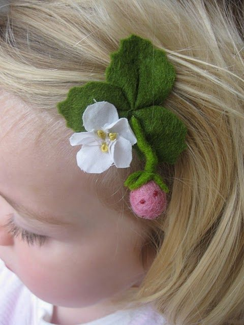 strawberry barrette. This is almost enough to make me want to start a new hobby.