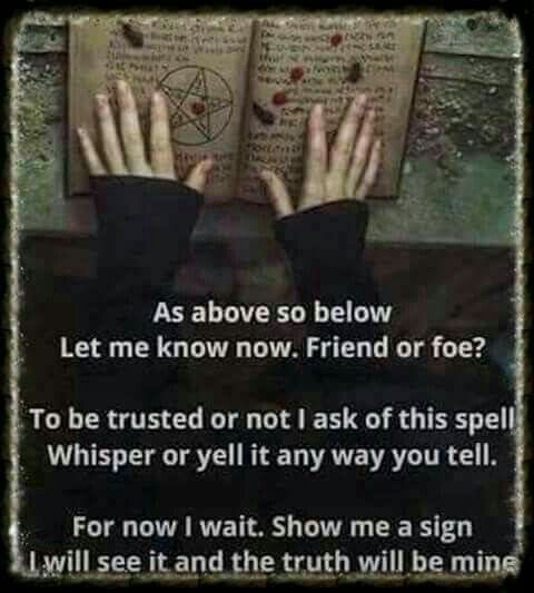 Spell Of Friend Or For Discernment