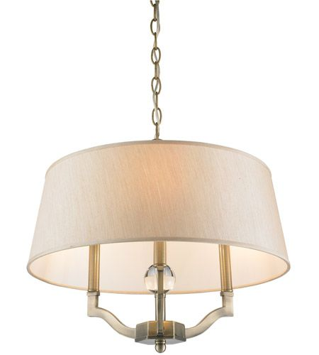 Golden Lighting 3500 SF AB PMT Waverly 3 Light 19 inch Aged Brass     Golden Lighting 3500 SF AB PMT Waverly 3 Light 19 inch Aged Brass Semi Flush  Mount Ceiling Light in Silken Parchment Shade  Antique Brass